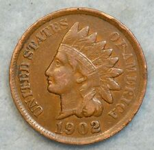 1902 Indian Head Cent Penny Very Nice Old Coin Liberty Fast S&H 254