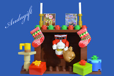 LEGO SANTA and sack santa's stuck in the chimney Father Christmas presents AAG
