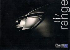 Peugeot 1997-98 UK Market Sales Brochure 106 306 406 806