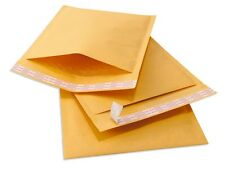 500 #000 TUFF Kraft Bubble Mailers 4x8 Self Seal Padded Envelopes 4 x 8