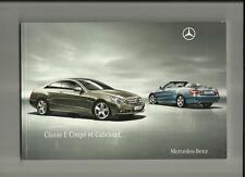 MERCEDES BENZ E-CLASS COUPE & CABRIOLET (SE & SPORT) SALE BROCHURE 2010 FRENCH