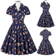 SUMMER Ladie Vintage 1940s 50s 60s Evening Swing Skirt PARTY Skaters Tea Dress