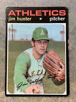 Jim Catfish Hunter 1971 Topps Baseball Trading Card #45 Oakland Athletics A's