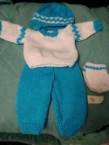Hand Knitted Dolls 12 Inch Boys Set