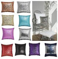 Sparkly Sequin Cushion FILLED Cushion Sofa Cushion Sparkle Sequins in 11 colours