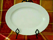 """Tabletops Unlimited Versailles Off White 13-1/2"""" Oval Serving Platter Preowned"""
