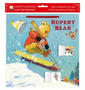 Classic Rupert Bear Sled Ride (With Stickers) - Advent Calendar