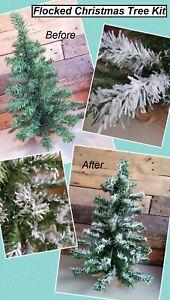 CHRISTMAS SNOW TREE FLOCKING KIT WHITE CREATE WONDERFUL SNOW TREE FOR XMAS