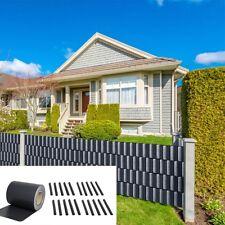 65M PVC Zaunfolie Anthrazit Sichtschutz Rolle blickdicht Doppelstabmatten Zaun