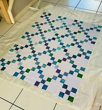 "Irish Chain Quilt Top Approx. 42"" x 54"" Batik Unfinished Multicolor  New"