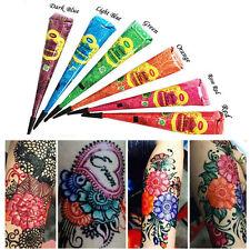 6 x Multi Colored golecha Herbal Henna Cones Temporary Tattoo Body Art Mehandi