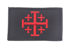 CROSS TEMPLAR CRUSADERS KNIGHTS CHRISTIAN ARMY INSIGNIA EMBROIDERY PATCH SH+ 863