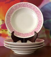 """D.&C. Delinieres Limoges ~ Set Of Four 9 1/8"""" Soup Bowls ~ France ~Ca. 1881-1893"""