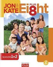 JON AND KATE PLUS 8 - SEASONS 1 + 2 NEW DVD