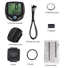 Digital Wireless Bike Bicycle Speedometer Cycle  Speedo ODOMETER MPH KMH