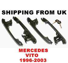 4x DOOR HANDLE LOCK SET FRONT LEFT RIGHT SIDE REAR 1 KEY! for MERCEDES VITO