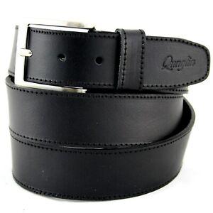 Cintura Uomo Pelle Nera in Cuoio vera Cinta da Donna Casual Sportiva 4 cm c0