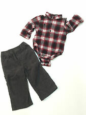 Baby Boy Outfit Gap Long Sleeve Shirt & Place Corduroy Pants Size 12-18 Months