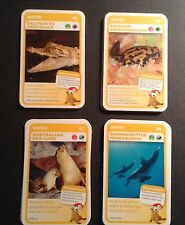 Woolworths Aussie Animals Trading Collectors Red Cards No: 25-28, 4 Cards In All