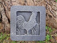 """Rooster tile plastic mould 8"""" x 8 x just under 1"""" thick"""