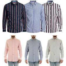 Jack & Jones Mens Shirt Cotton Classic Collar Formal Long Sleeve Striped Shirts