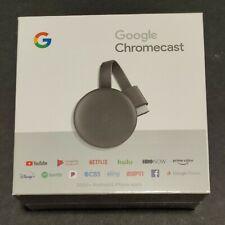 Google Chromecast (3rd Generation) HDMI Media Streamer Genuine New Charcoal