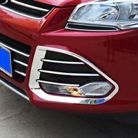 For Ford Kuga 2013-2016 Chrome Front Fog Light Lamp Cover Trim Frame Decoration