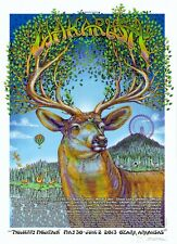 MINT & SIGNED EMEK Widespread Panic Black Crowes 2013 Wakarusa Poster 398/400