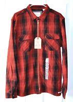 Weatherproof Vintage Men's Full Zip Buffalo Plaid Jacket Fleece Lined Pockets M