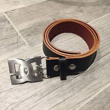 Cintura DC DCSHOECOUSA Fibbia In Metallo Perfette Condizioni 125 cm Tg L