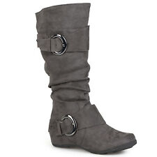 df1685a6a55 Anne Michelle by JOURNEE Womens Buckle Accent Slouchy Mid-calf BOOTS