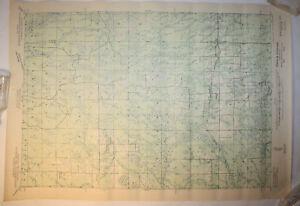 Vintage USGS Map Brantwood, WI 1943