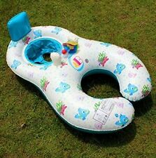 Inflatable Double Swimming Ring Baby Pool Float Pool Tube Toys With Sunshade