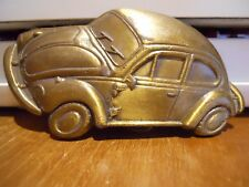 Vintage VW Brass Bug Beetle Belt Buckle