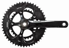 SRAM Apex 2x10 Speed Road Bike Crankset Black/White 34/50 x 180mm