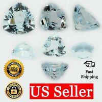 Loose Trillion Cut Genuine Aquamarine Topaz Stone Single Blue Birthstone Shape
