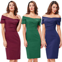 Retro Vintage 1950s Bodycon Pinup Party Pencil Stretchy Dress Cocktail Evening