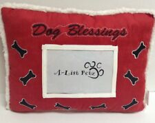 New listing Pet Pillow With Photo Pocket Dog Blessings Red Nwt
