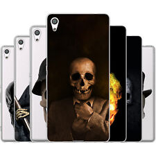 Dessana Skulls TPU Silicone Protective Case Pouch Cover For sony