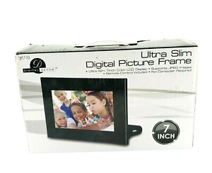 Digital Decor Ultra Slim Picture Frame 7' LCD Display Remote Control USA Seller