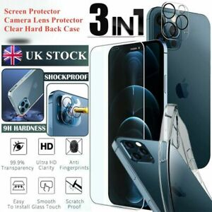 For iPhone 13 12 Pro Max Mini Tempered Glass Screen Protector Camera Lens Case