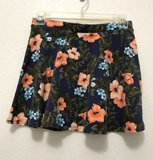 Aeropostale Womens Juniors Xl Skirt Lined High Low Blue Animal Print High Quality Materials Skirts Women's Clothing