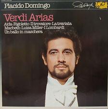 """placido domingo verdi arias aida rigoletto il trovatore LA traviata 12"""" LP d808"""