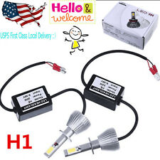 2x High Power H1 P145S Upgrade LED Headlight Bulbs All in One Conversion Kit W/