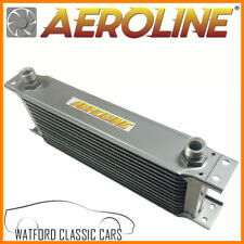 Aeroline Silver 13 Row Oil Cooler for MG Midget, MGB, Mini, Triumph, Ford Austin