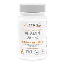 Vitamin D3 5000 IU/IE + 200 mc K2, 100% vegan, 120 Tabletten | Original PROFUEL®