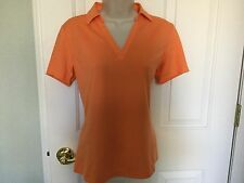 NWT LADY HAGEN Womens Essential SS Tangerine Polo, Size- Small