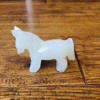 Vintage Marble Horse Figurine Statue White Small