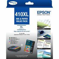 Genuine Epson 410XL Black Cyan Magenta Yellow XL Ink Value 5 Pack C13T339796