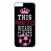 iPhone 4s 5s 5c 6 6s Plus White Case Cover Soccer Girl Funny Cute Futbol Quote